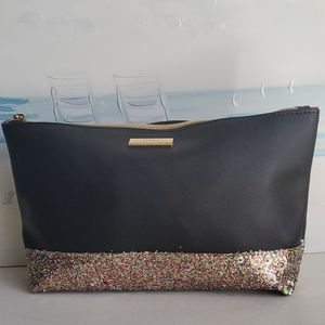 Trina Turk Cosmetic Purse Black Multi Glitter Bag
